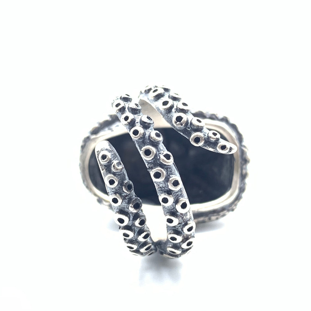 Sterling Silver Octopus Head Ring