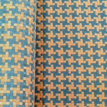"Load image into Gallery viewer, ""REAL"" Woven Leather Patterns (Tartan, Houndstooth, Custom) - 27""Wide from 2 Leather Hides"