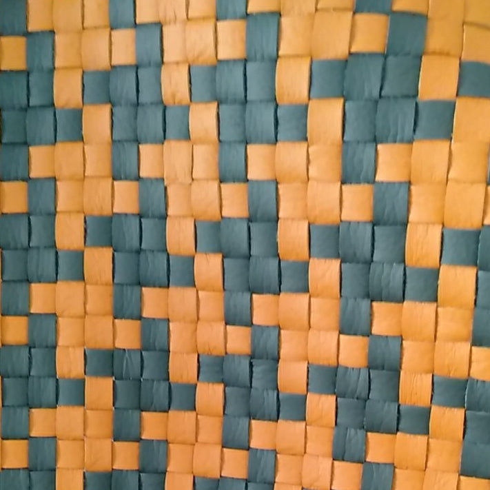 Woven Orange and Gray Fabric