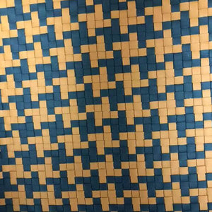 """REAL"" Woven Leather Patterns (Tartan, Houndstooth, Custom) - 27""Wide from 2 Leather Hides"