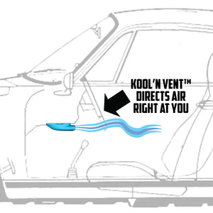 Kool'n Duct - 911 Under dash duct for better air flow - SOLD ONE (1) PER ORDER