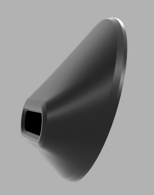 RS DOOR PULL (PAIR) - CNC BLACK ANODIZED ALUMINUM