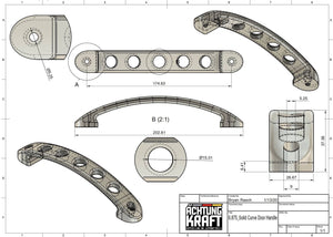 "6 7/8"" - 911 Aluminum Interior Door Handle"