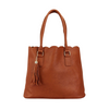 Faux Leather Scalloped Tote