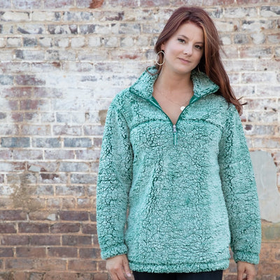 Ladies Quarter Zip Sherpa Pullover