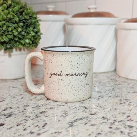 Good Morning Camp Styple Ceramic Mug