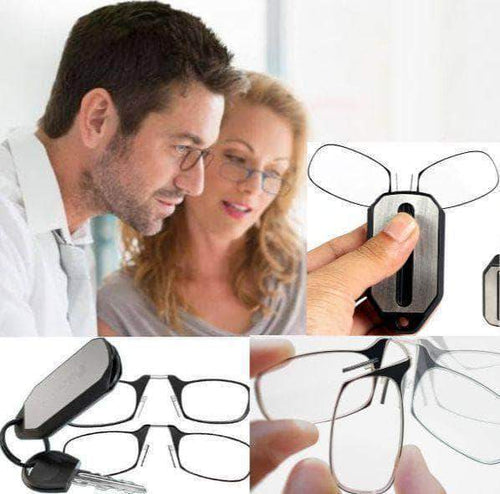Optic Fold™️- Clip-On Reading Glasses