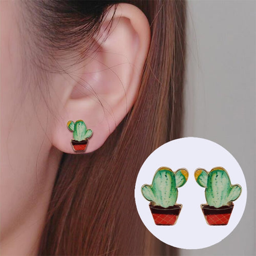 New Vintage Cactus Earrings