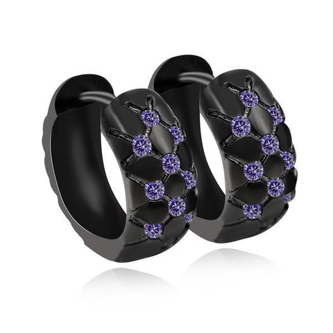 Purple Earring with Stones