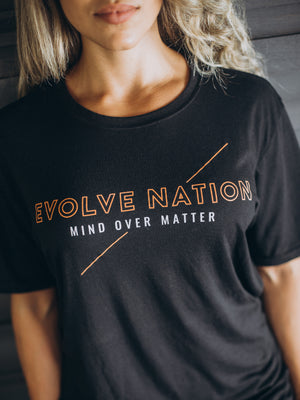Men's Mind Over Matter Crew Tee - Black
