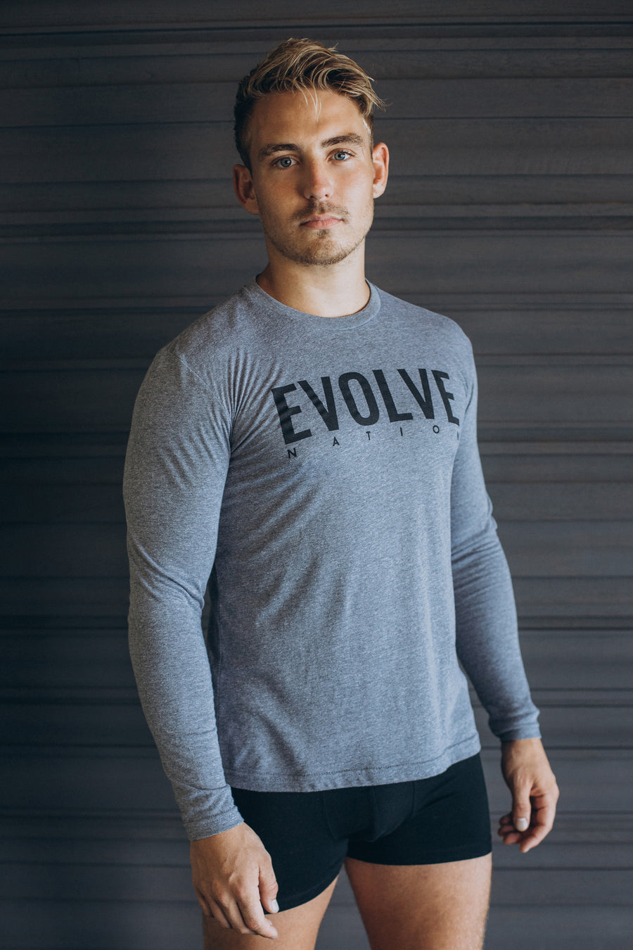 Men's Be More Long Sleeve - Premium Heather Grey