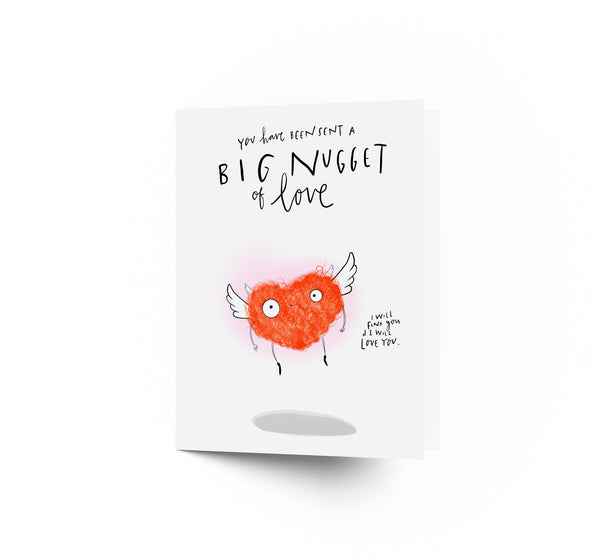 Nugget of love Valentines card