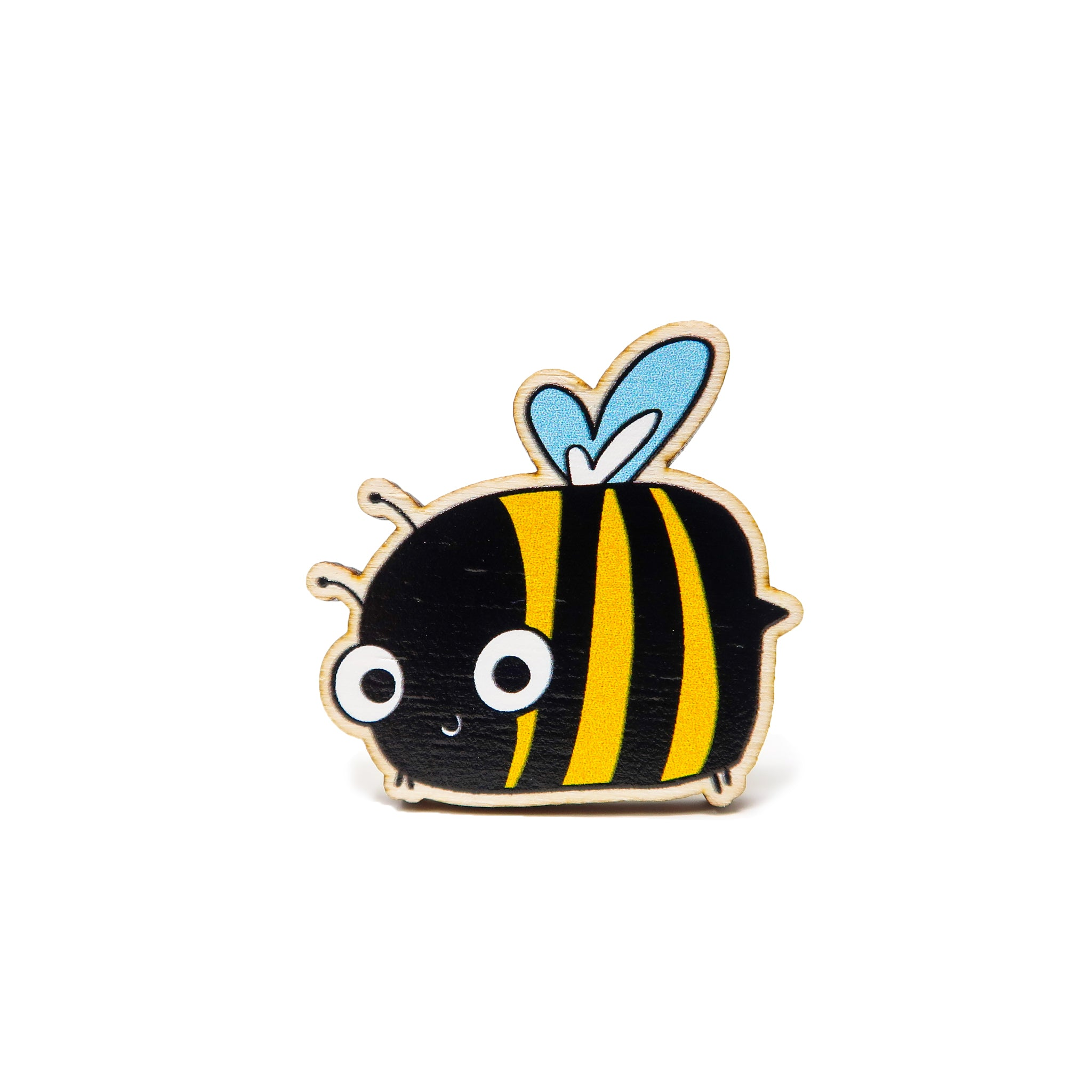 Wooden Bumble bee badge - Hofficraft