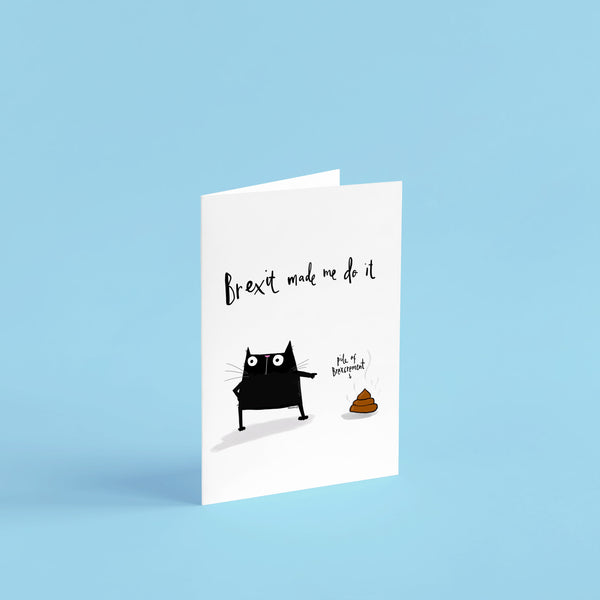 Brexit Black cat Card - Hofficraft
