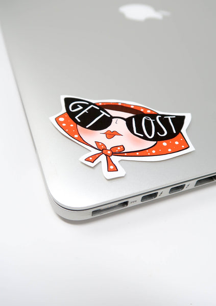 Get Lost sticker laptop sticker - Hofficraft