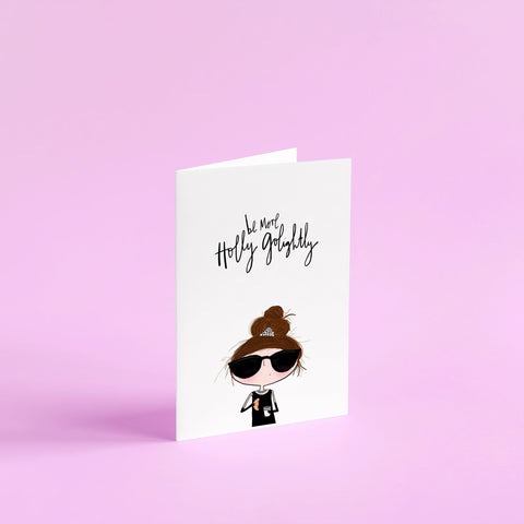 Holly Golightly, Breakfast at Tiffany's card - Hofficraft