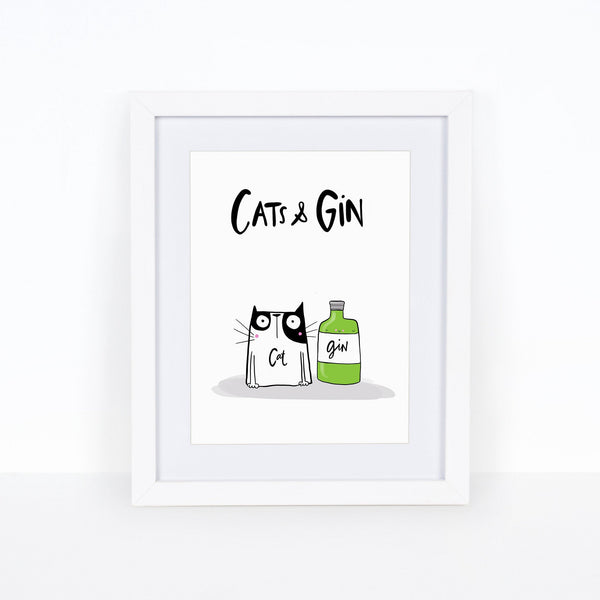 Cats and Gin print - Hofficraft