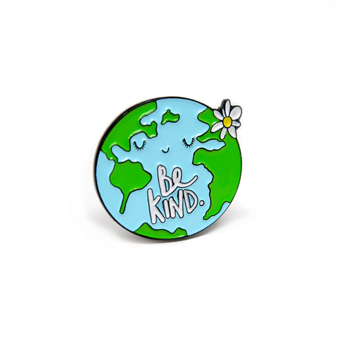 Be kind, World enamel pin badge - Hofficraft