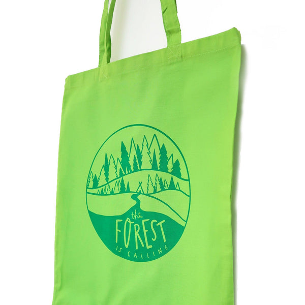 Forest bag • Forest is calling tote bag • Tree canvas bag - Hofficraft