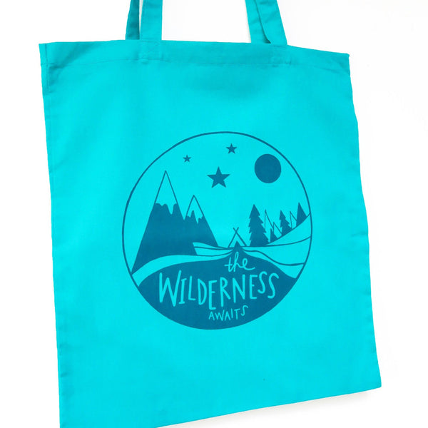 The wilderness tote bag • Mountain bag • Adventure canvas bag - Hofficraft