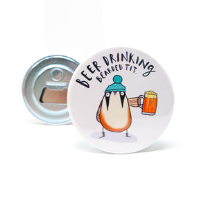 Bird bottle opener • Garden bird bottle opener • Bearded tit - Hofficraft