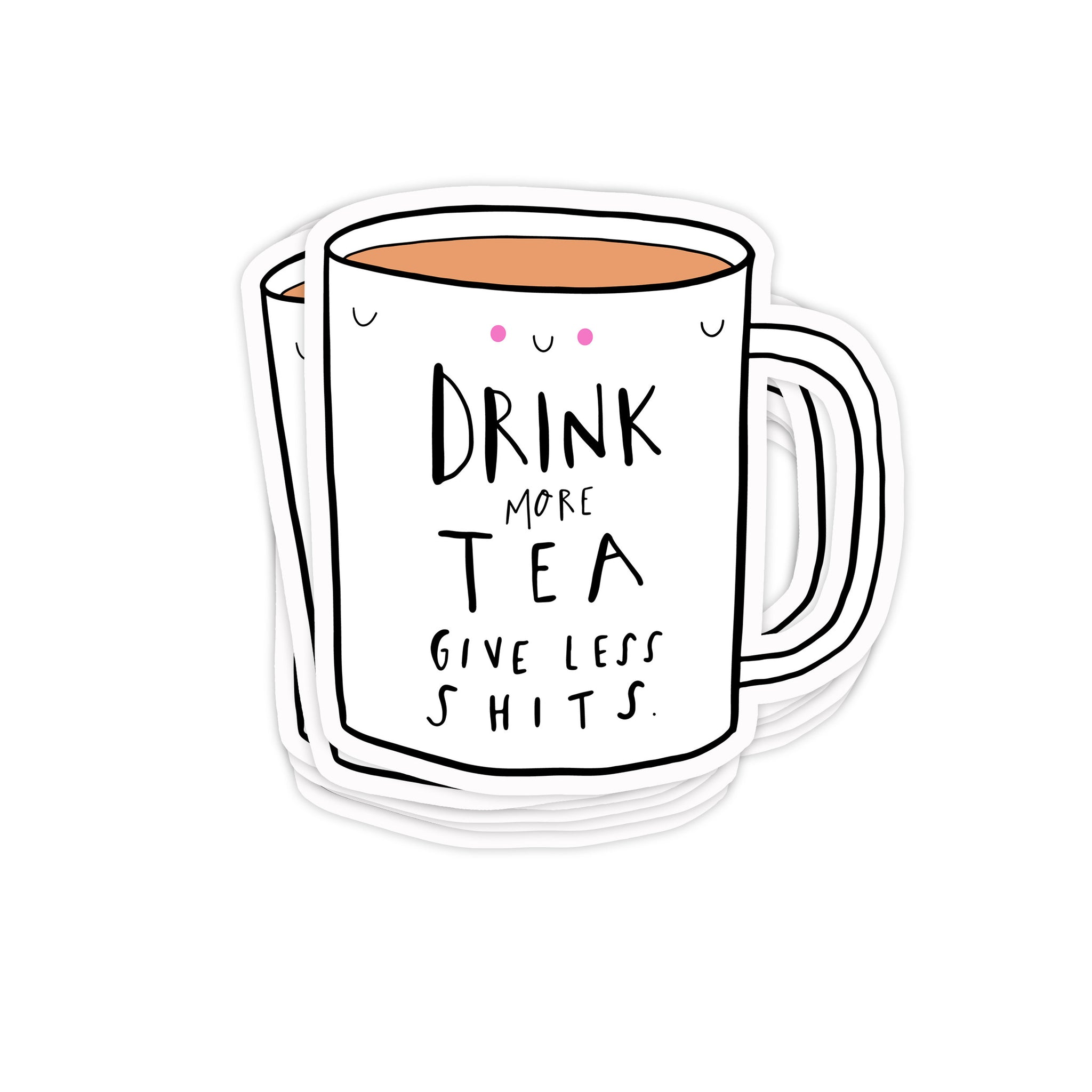 Drink more tea sticker - Hofficraft