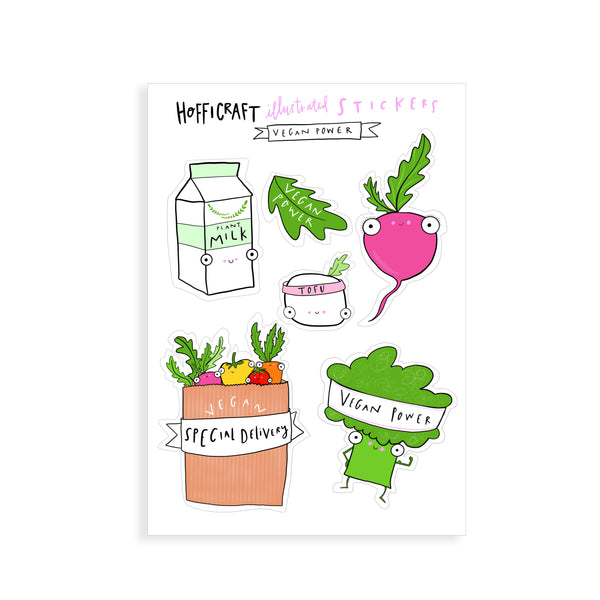 Vegan Sticker Sheet - Hofficraft