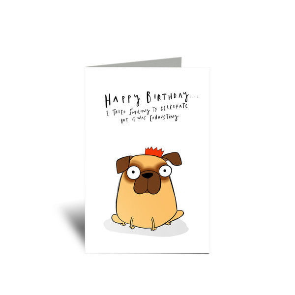 Pug Birthday card - Hofficraft