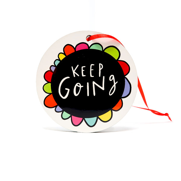 Keep going decoration