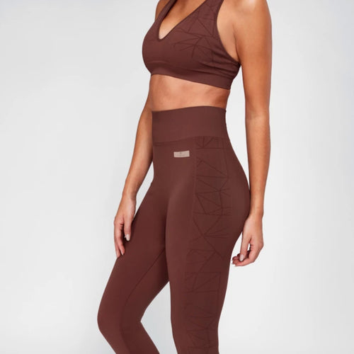 Breathe Sports Bra | Rich Mocha