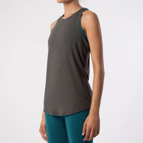 Isle Knot Vest Top | Charcoal Grey