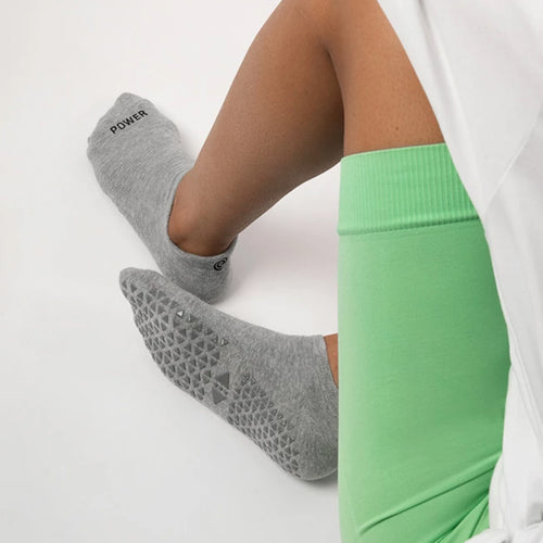 Power On Grip Socks | Grey