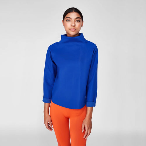 High Neck Sweater | Cobalt Blue