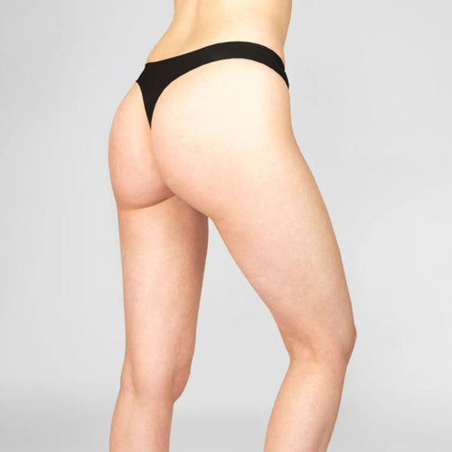 Three pack of Smooth Finish Thongs | Black