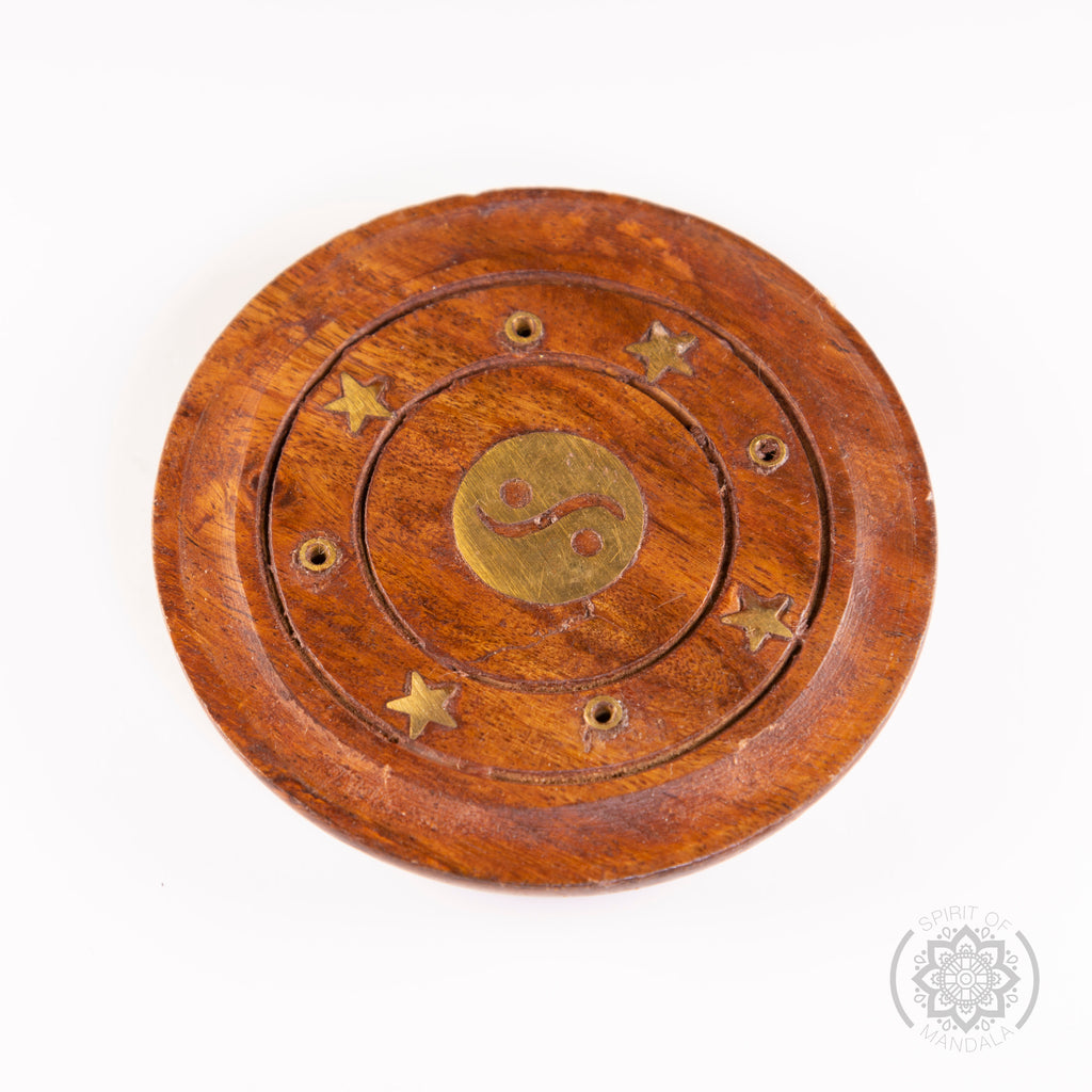 Round Wooden Incense Holder