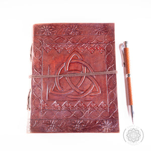 """Celtic"" Leather Journal with Stylish Pen"
