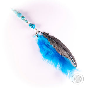 Turquoise Crystal Turquoise Feather