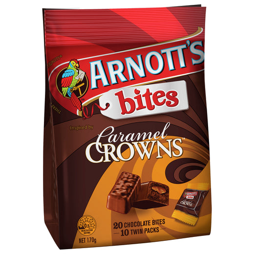 Arnotts Caramel Crown Share Pack Bites 170g - Aussie Food Express