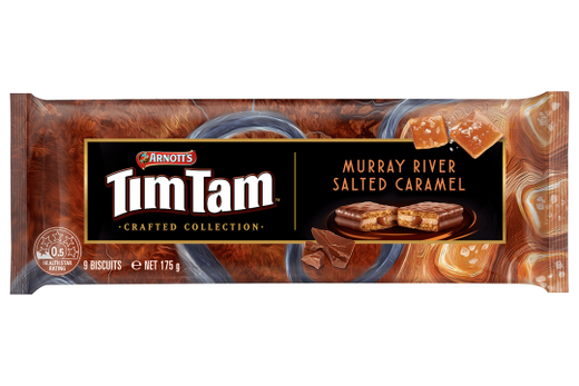 Arnott's Tim Tam Murray River Salt Caramel (New) - 175g - Aussie Food Express
