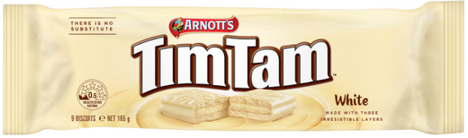 Arnotts Tim Tam White 165g - Aussie Food Express