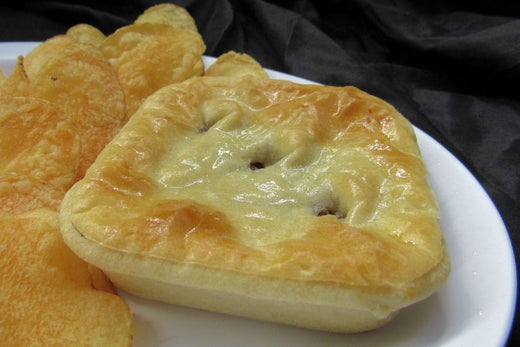 Australian Meat Pies - 12 Meat Pies & 12 Steak, Cheese & Onion Pies - Aussie Food Express