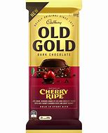 Cadbury Old Gold CHERRY RIPE DARK Chocolate Block 180g