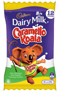 Cadbury Dairy Milk Caramello Koala Bar  Share Pack 180g - Aussie Food Express