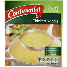 Continental Simmer Soup Chicken Noodle 40g - Aussie Food Express