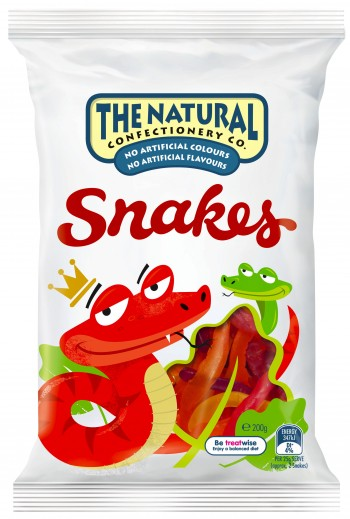 Natural Confectionery Snakes 200g - Aussie Food Express