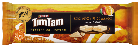 Arnott's Tim Tam KENSINGTON PRIDE MANGO and Cream (New) - 160g