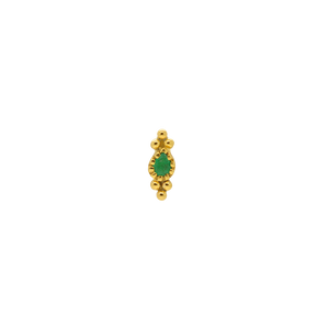 #104 Green Emerald Deco Stud