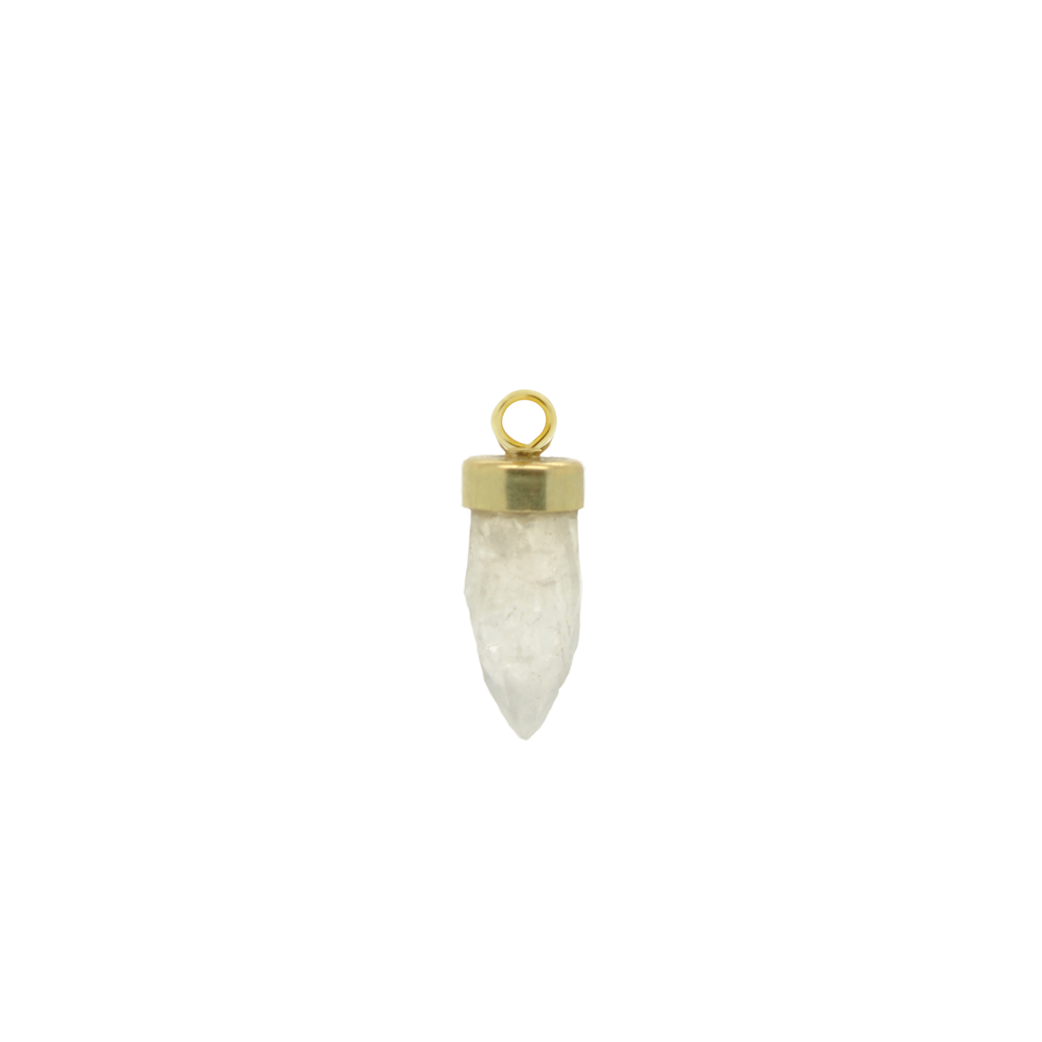 #120 Golden Crystal Stone Pendant