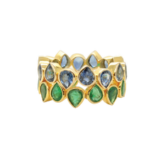 Load image into Gallery viewer, #79 Drop Ring Emerald S