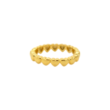 Load image into Gallery viewer, #94 Hearts Ring Gold